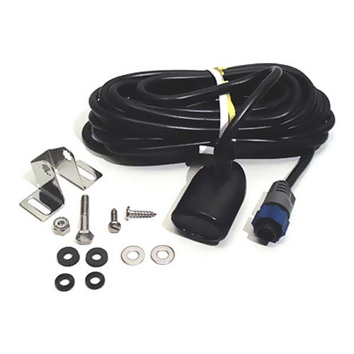 Lowrance HST-WSBL Boat Transom Mount Skimmer Transducer with Built in Temperature Sensor
