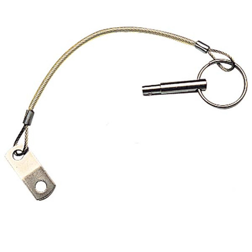 Sea-Dog Stepped Release Pin with Lanyard, Stainless Steel