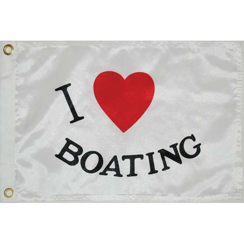 Taylor Made I Love Boating Flag