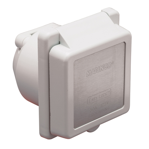 Marinco 30 Amp Standard Shore Power Inlet 30 Amp 125V