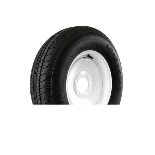 "Karrier 225/75R15 5 Lug 15"" Radial Trailer Tire - White"