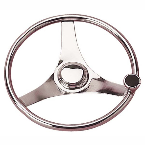 Sea-Dog Stailess Steel Steering Wheel With Integral Knob