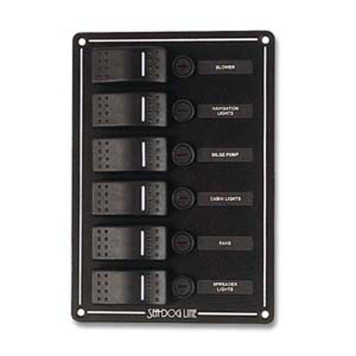Sea Dog Six Rocker Switch Panel