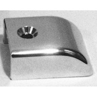 Taylor Made Bimini Top Slide Assembly End Cap, Chrome