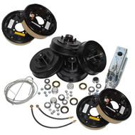 Complete Tandem AxleTrailer Brake Kit Free Backing