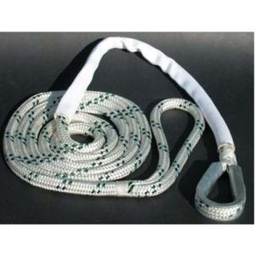 "Custom Cordage Double Braid Mooring Pendant 1/2"" x 15' 7, 800#"