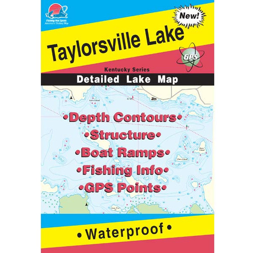 Taylorsville Lake Fishing Map