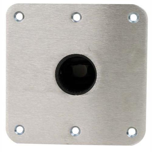 "Swivl-Eze Snap-Lock Deck Base, 7"" x 7"" Stainless Steel"