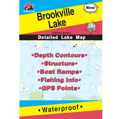Brookville Lake Fishing Map