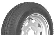 """Karrier 215/75R14 5 Lug 14"""" Radial Trailer Tire - White Spoke"""