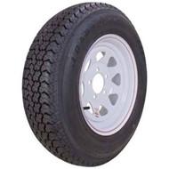 """Loadstar 225/75D15 5 Lug 15"""" Bias Trailer Tire - White Spoke"""