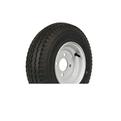 "Loadstar 480-8 4 Lug 8"" Bias Trailer Tire - White Load Range B"