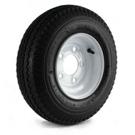 "Loadstar 480-8 5 Lug 8"" Bias Trailer Tire - White Load Range B"
