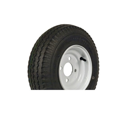"Loadstar 480-12 4 Lug 12"" Bias Trailer Tire - White Load Range B"