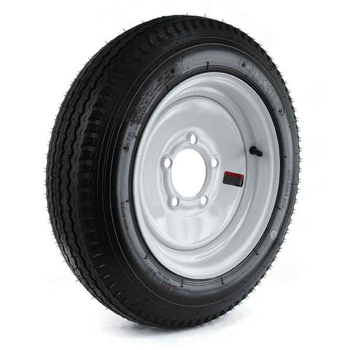 "Loadstar 480-12 5 Lug 12"" Bias Trailer Tire - White Load Range B"
