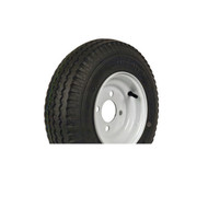 "Loadstar 570-8 4 Lug 8"" Bias Trailer Tire - White Load Range B"