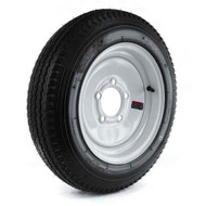 "Loadstar 570-8 5 Lug 8"" Bias Trailer Tire - White Load Range B"