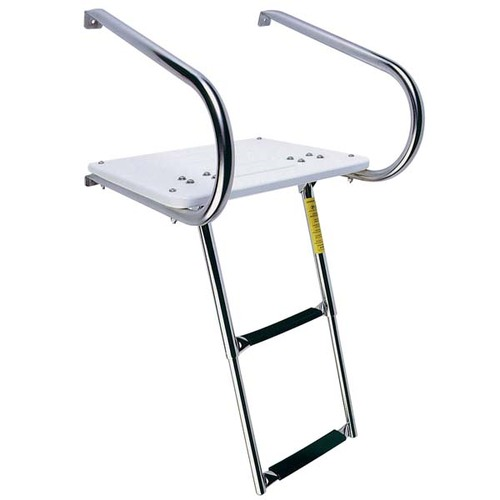 Garelick I-O Swim Platform with Telescoping Ladder