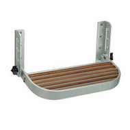 Garelick Adjustable Footrest with Teak Insert