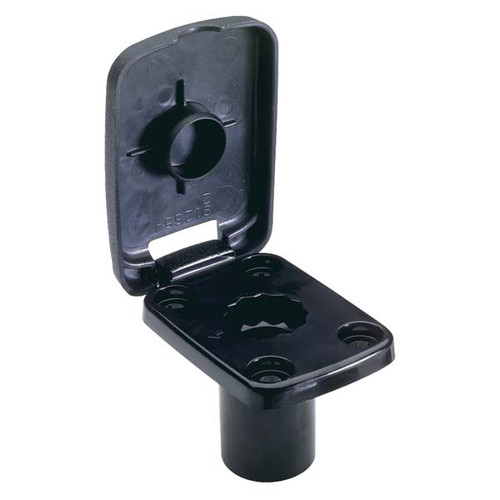 Attwood Pro Series Fishing Rod Holder, Flush Mount Base, Black
