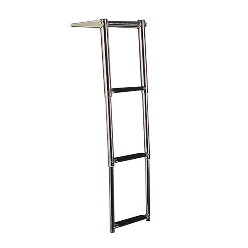 Stainless Steel 3 Step Ladder w/ Handle and Gudgeon Mount