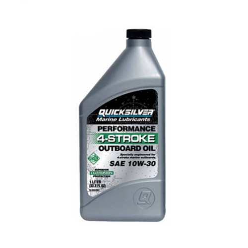 Quicksilver 10W-30 4-Stroke Outboard Oil - Quart