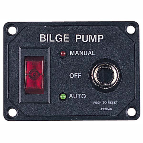 Sea Dog Bilge Pump Switch Panel w/ Circuit Breaker