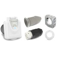 Conversion kit, 50 amp, 125/250v w/ LED Inlet, white-RV