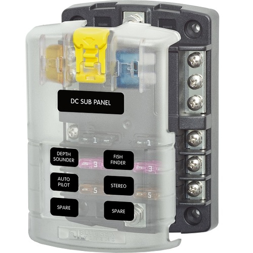 Blue Sea Systems ST Series Blade Fuse Block 6 Circuit