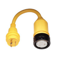 Marinco Pigtail Adapter 30 Amp Locking to 50 Amp Locking