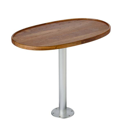 Garelick Teak Table - Stowable Pedestal System