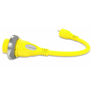 Furrion Pigtail Adapter 30 Amp Female to 15 Amp Male- Yellow FP3015-SY
