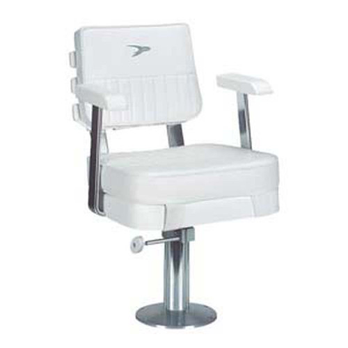 "Wise Offshore Ladder Back Helm Chair with 12""-18"" Pedestal"