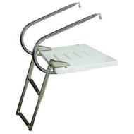 JIF 2-Step I/O Transom Platform w/ Over Platform Ladder
