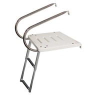 JIF 2-Step I/O Transom Platform w/ Under Platform Ladder
