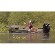 Square Bow Aluminum Bass Boat Cover  18.4Ft O/B