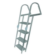 JIF 4-Step Aluminum Folding Ladder w/ Mounting Hardware