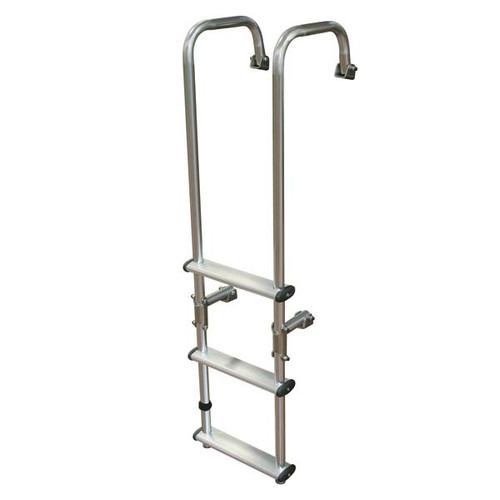 Aluminum 3 Step Extended Transom Ladder Wholesale Marine