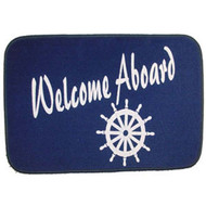 Welcome Aboard Door Mat Ships Wheel