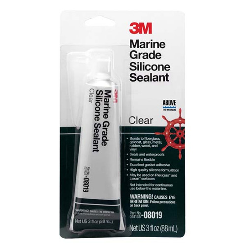 3m marine grade clear silicone sealant for Silicone paint sealant