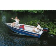 """V-Hull Tiller w/ Motor Hood 125'5"""" to 13'4"""" Max 62"""" Beam"""