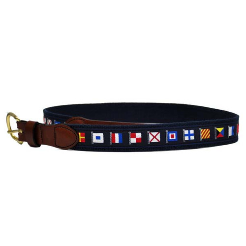 Nautical Code Flag Belts Navy