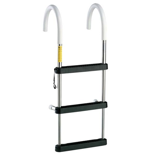 "Garelick Telescoping Stainless Steel Gunwale Ladder - 11"" Hook"