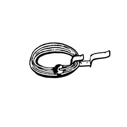 Cal-June Life Ring Bracket with Heaving line