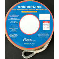 Custom Cordage Double Braid Anchor Line - White