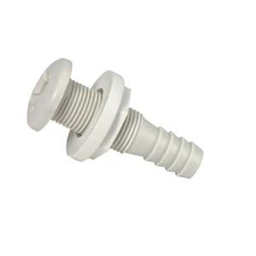 T&H Marine Thru-Hull Fittings Straight White
