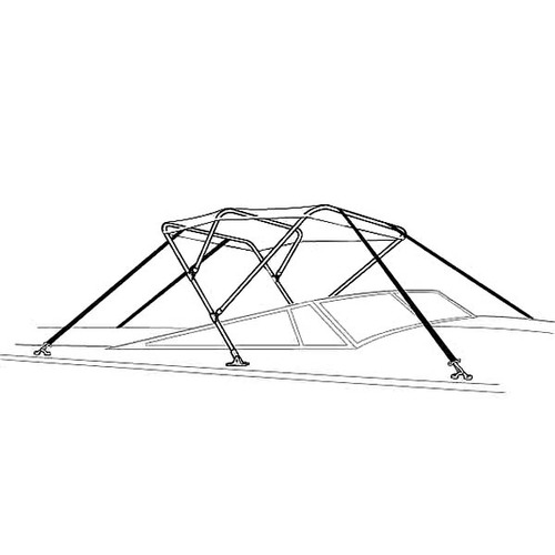 "Attwood Bimini Top Frame Only 6'L x 46""H"