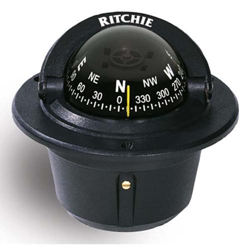 Ritchie F-50 Explorer Compass (Flush Mount) - Black