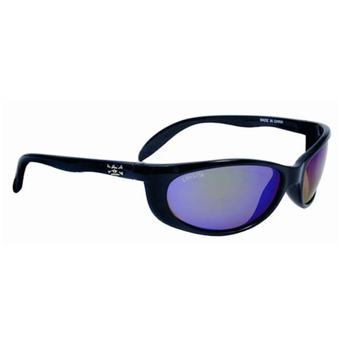 Calcutta Smoker Sunglasses - Black Frame W/ Green Mirror Lens