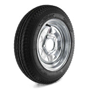 "Loadstar 480-12 5 Lug 12"" Bias Trailer Tire - Galvanized Load B"